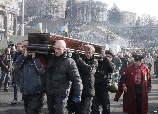 Mourners in Kiev