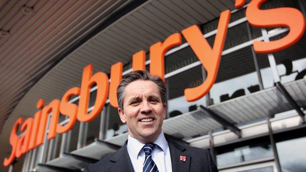 Justin King, chief executive, Sainsbury's