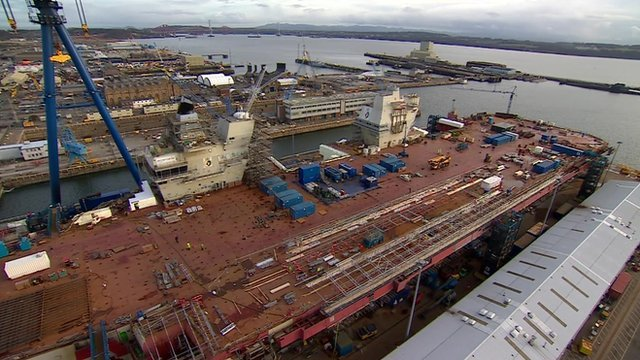 HMS Queen Elizabeth takes shape at Rosyth