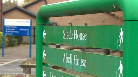 Slade House sign