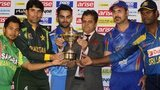 Captains with the Asia Cup