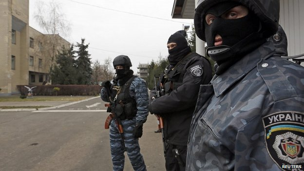 Ukraine Interior ministry troops in Kiev. 22 Feb 2014