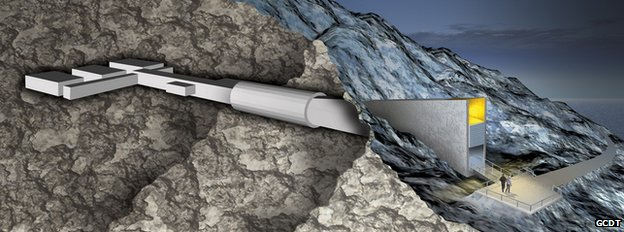 Graphic showing a cross-section of the vault (Image: GCDT)