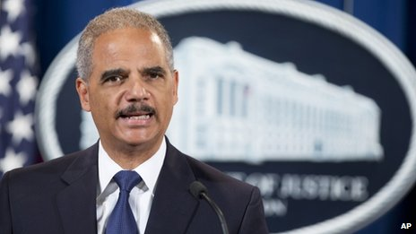 Attorney General Eric Holder appeared in Washington DC on 30 September 2013