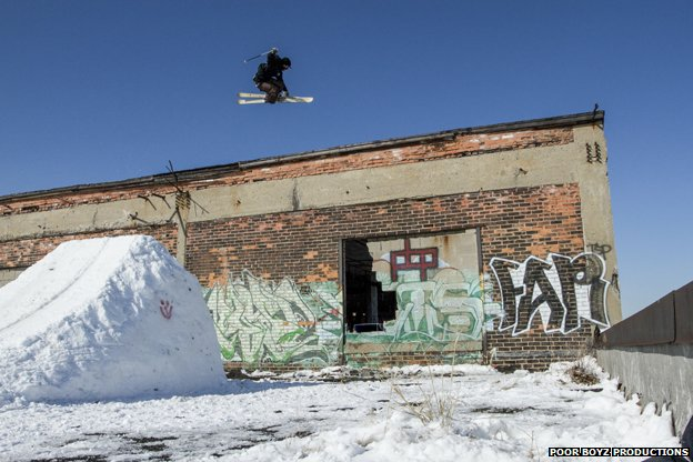 Picture of urban skiing in Detroit from Tracing Skylines. Picture by Poor Boyz Productions/Red Bull Content Pool
