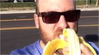 Vine comedian Nick Spears eating a banana