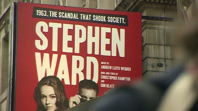 A billboard promoting Andrew Lloyd Webber's Stephen Ward