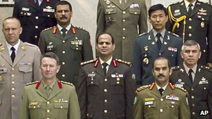 Undated photograph provided by the US Army War College photo lab shows Brig-Gen Abdul Fattah al-Sisi in the International Fellows class of 2006 in Carlisle, Pennsylvania
