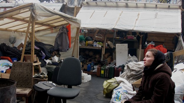 Protest camp in the Maidan