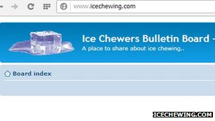 Ice Chewers Bulletin Board