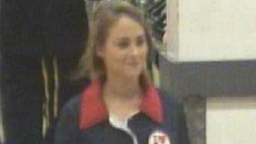 A CCTV image of the girl police in England are looking for