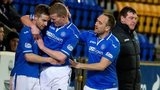 St Johnstone players celebrating
