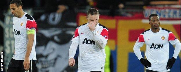 United look dejected following Basel defeat