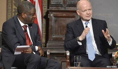 William Hague at Georgetown University, Washington