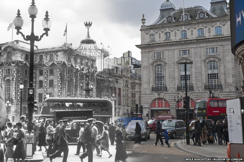In Pictures London Now And Then Bbc News