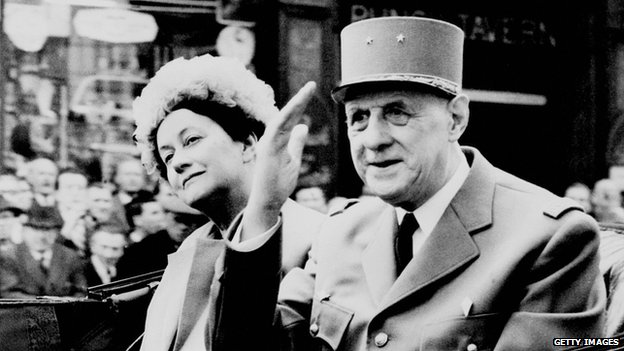 General Charles de Gaulle and his wife Yvonne