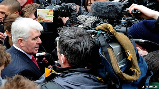 Max Clifford and reporters