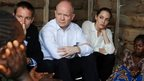 William Hague and Angelina Jolie at a rescue camp for women in the Democratic Republic of Congo of March