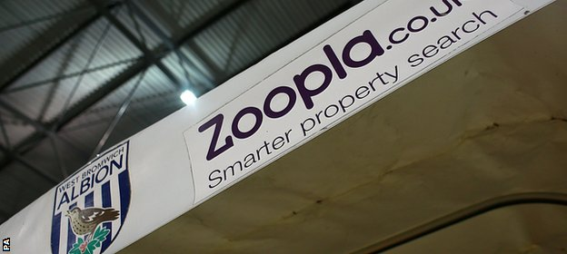 Zoopla are to end their sponsorship of West Brom at the end of the season