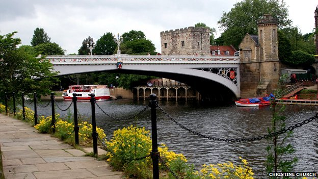 Lendal Bridge and the River Ouse, York