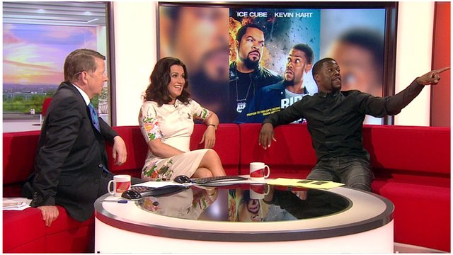 Bill Turnbull and Susanna Reid with Kevin Hart