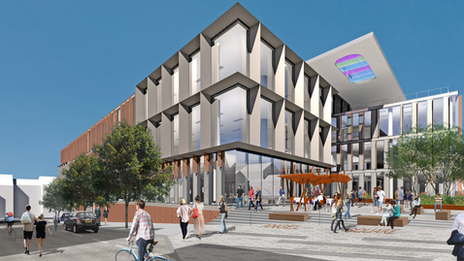 Artist's impression of new county council building