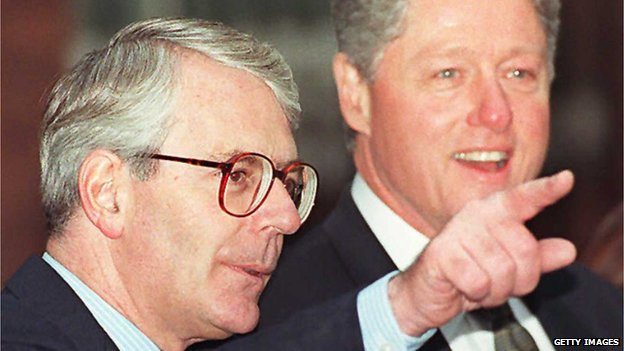 John Major and Bill Clinton