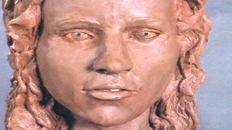 Reconstruction of Karen Price's face
