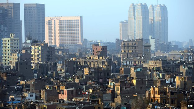 View of Cairo buildings in 2013