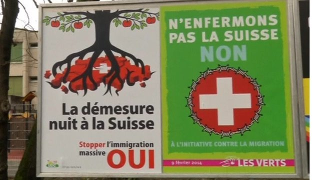 Switzerland referendum advertising posters