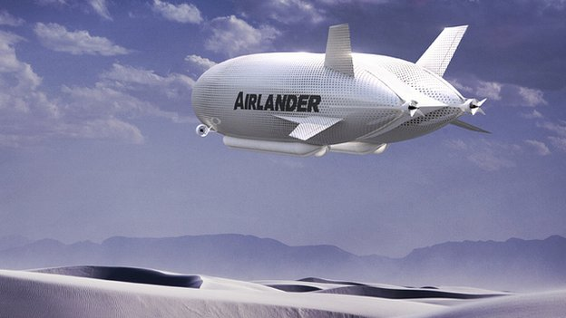 An illustration of HAV's Airlander airship