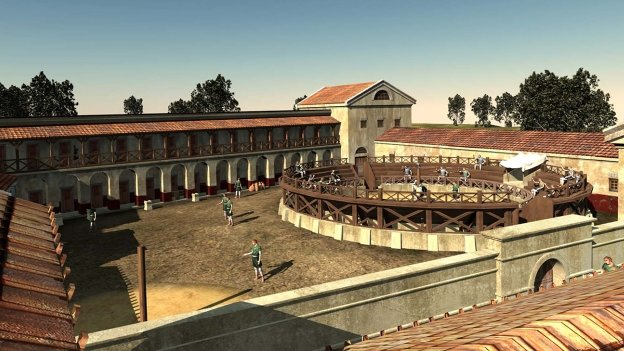 Virtual reconstruction of Roman 'gladiator school'
