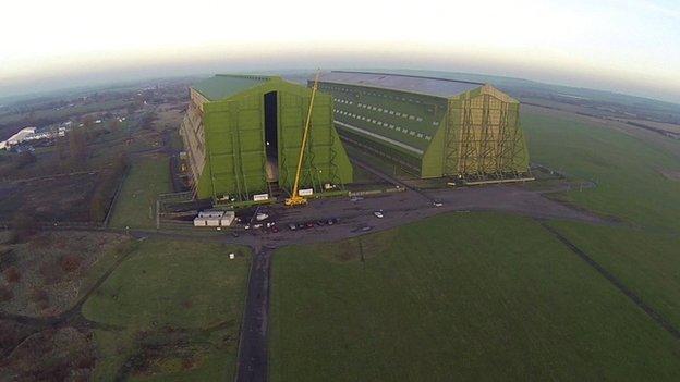 Cardington airship hangars