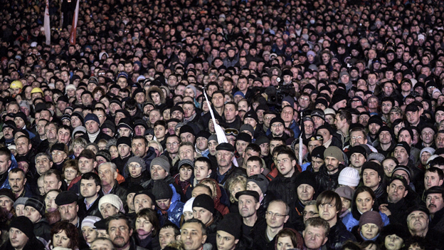 Crowds in Kiev