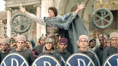 David Threlfall as the Emperor Constantine
