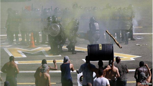 Rio de Janeiro riot police training