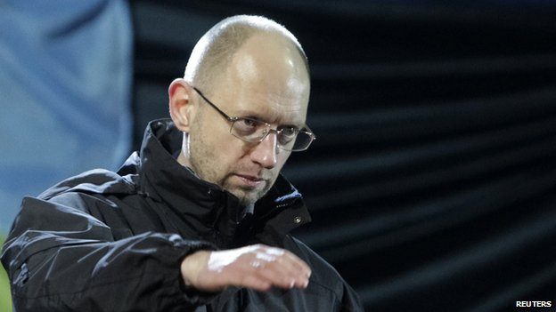 The Maidan Council's nominee for prime minister Arseniy Yatsenyuk 26/02/2014