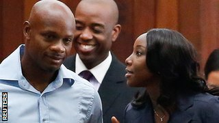 Asafa Powell and Sherone Simpson