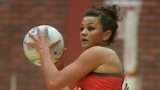 Wales wing defence Nia Jones in action against Singapore