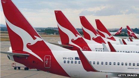Αεροσκάφη της Qantas