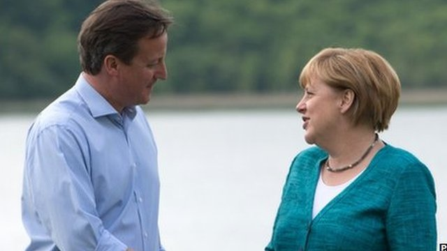 David Cameron and Angela Merkel at last year's G8 summit in Northern Ireland