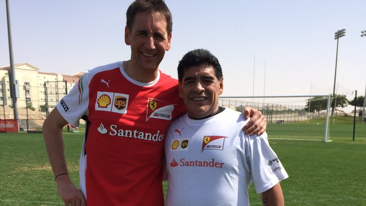 Tom Clarkson and Diego Maradona