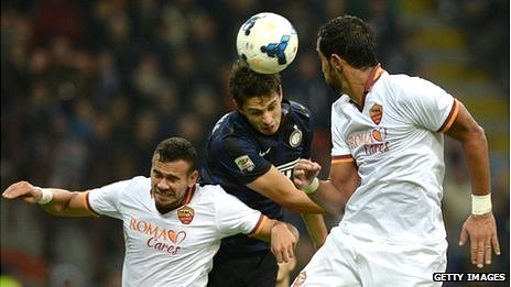 Inter Milan and Roma (white) both now have overseas owners
