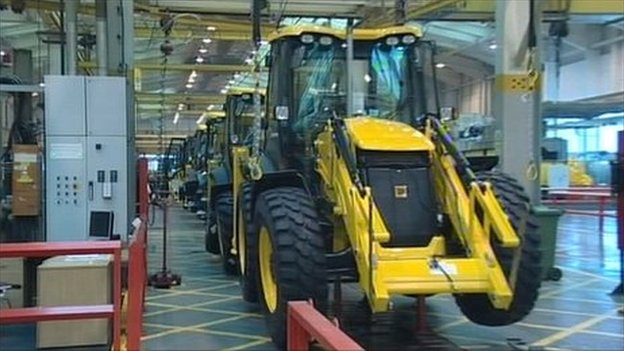 JCB production line