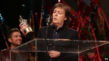 Sir Paul McCartney with Damon Albarn