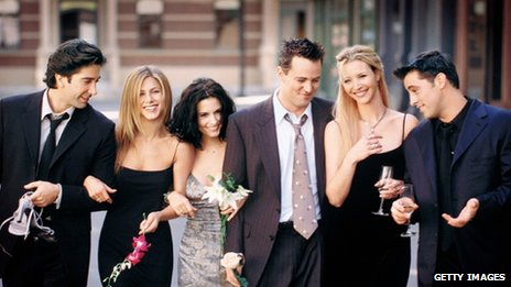Cast of Friends: David Schwimmer As Ross Geller, Jennifer Aniston As Rachel Cook, Courteney Cox As Monica Geller, Matthew Perry As Chandler Bing, Lisa Kudrow As Phoebe Buffay And Matt Leblanc As Joey Tribbiani