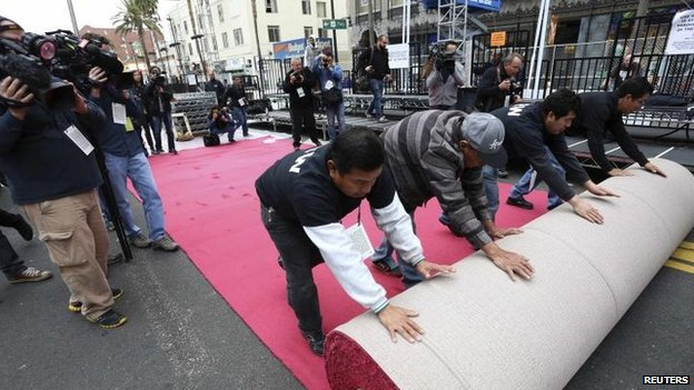 Oscars - red carpet preparations