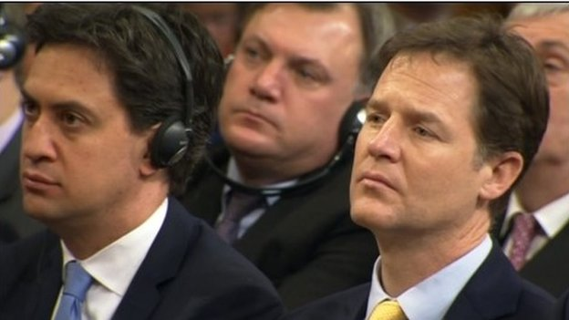 Ed Miliband, Ed Balls and Nick Clegg