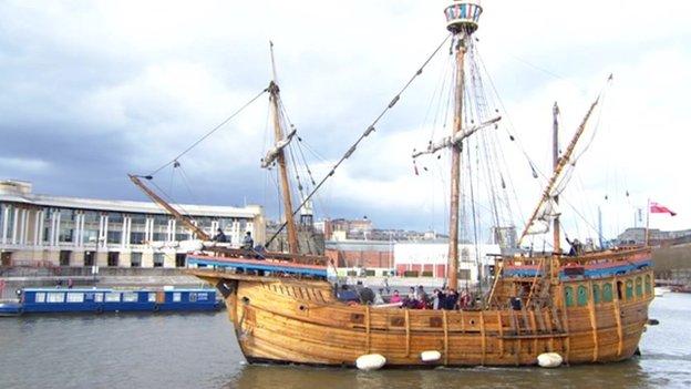 The Matthew of Bristol tall ship