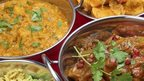 Selection of curry dishes